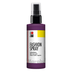 Textilfärg sprayflaska Marabu Fashion Spray 100ml Aubergine 039 Lila