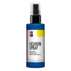 Textilfärg sprayflaska Marabu Fashion Spray 100ml Marine Blue Marinblå