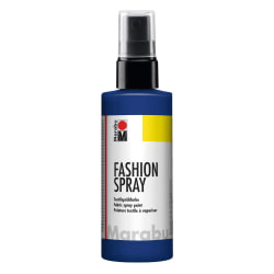 Textilfärg sprayflaska Marabu Fashion Spray 100ml Night Blue 293 Mörkblå