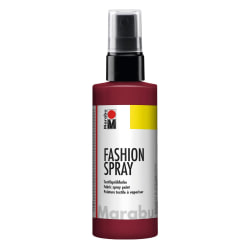 Textilfärg sprayflaska Marabu Fashion Spray 100ml Bordeaux (034) Mörkröd