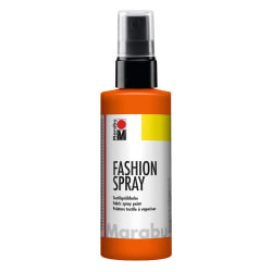 Textilfärg sprayflaska Marabu Fashion Spray 100ml Red Orange 023 Röd