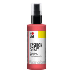 Textilfärg sprayflaska Marabu Fashion Spray 100ml Flamingo (212) Röd