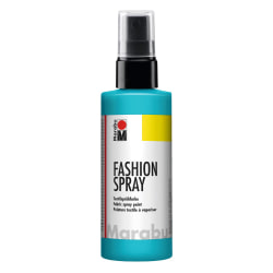 Textilfärg sprayflaska Marabu Fashion Spray 100ml Caribbean 091 Turkos