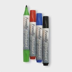 Whiteboardpenna Friendly Marker Whiteboard, Fine, Bullet/Rund, 4 multifärg