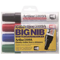 Whiteboardpennor Artline EK-5109A/4W Big Nib, 10mm, Skuren spets multifärg