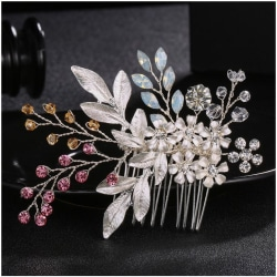 Bröllop Fest -  Hårsmycke Silverpläterad med Kristaller