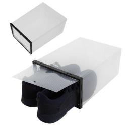 10-pack stapelbara skolådor / skoförvaring Transparent