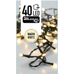 2st Ljusslingor - Varmvit - 40 LED - 3 meter - inkl strömadapter Varm vit