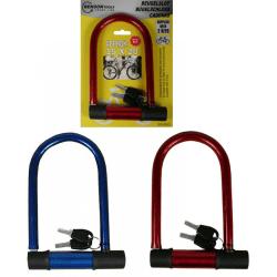 Benson cykellås - 15cm x 20cm - Bygellås Svart
