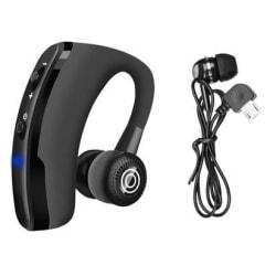 Bluetooth Headset - med extra hörsnäcka för stereo Svart