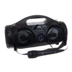 Bluetooth Högtalare med Karaoke - Bärbar - Laddbar Svart