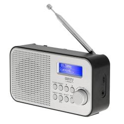 Camry FM-radio med DAB-funktion - Laddbar Silver