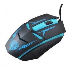 Gamingmus - Optisk mus med LED och kabel Svart