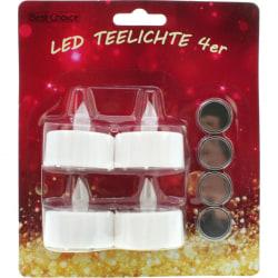 LED-värmeljus - 2st 4-pack - 8st totalt Vit