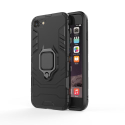 iPhone 7/8 / SE 2020 Armorfodral Ring tålig, robust skal Svart