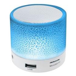 ISO Bluetooth-högtalare med LED belysning Vit