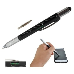 ISO Touchpenna / Duttpenna / Styluspenna 6i1 Svart