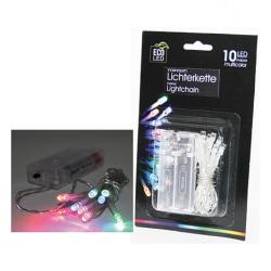 Ljusslinga 10 LED - Batteridriven - 1,4 meter - med timer Transparent