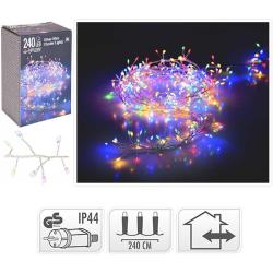 Ljusslinga - Silvertråd - kluster - 240LED - flerfärgad multifärg