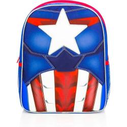Original Captain America ryggsäck - 31cm - Fulltryck Blå