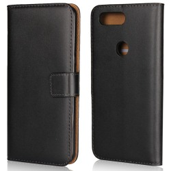 Plånbokfodral OnePlus 5T, Äkta läder Svart