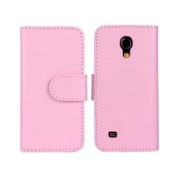 Plånboksfodral Galaxy S4 mini, Konstskinn Ljusrosa