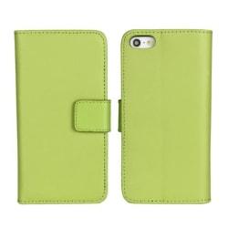 Plånboksfodral iPhone 5/5s/SE äkta skinn Grön
