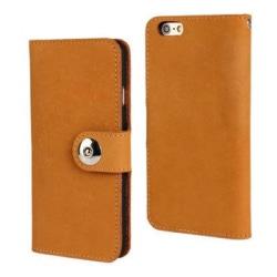 Plånboksfodral iPhone 6s Plus, Äkta Läder Brun