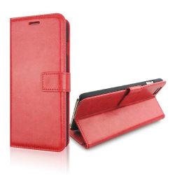 Plånboksfodral iPhone 6s Plus, slim modell, 2 kort + ID Röd