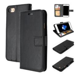 Plånboksfodral iPhone 7 / 8 / SE (2020), 3 kort med ID, Svart Svart