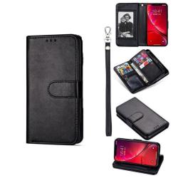 Plånboksfodral iPhone 7 / 8 / SE (2020) - 9 kort Svart