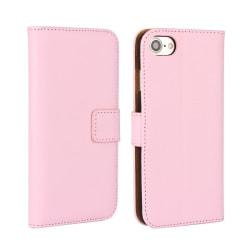 Plånboksfodral iPhone 7 / 8 / SE (2020) äkta skinn Rosa