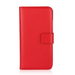 Plånboksfodral iPhone X /Xs, äkta skinn Röd