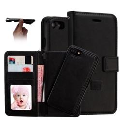 Plånboksfodral / Magnetskal iPhone 7 Plus / 8 Plus Svart