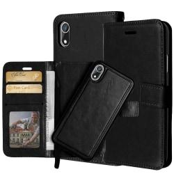 Plånboksfodral / Magnetskal iPhone Xr Svart