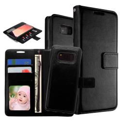 Plånboksfodral / Magnetskal Samsung S8 Plus Svart