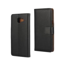 Plånboksfodral Samsung A5 2017, Äkta skinn Svart