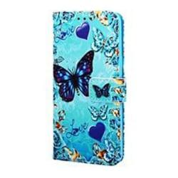 Plånboksfodral, Samsung S20, Fjäril Blå