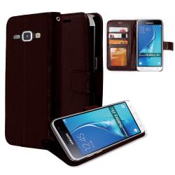Plånboksfodral Samsung J3 - 2016, 2 kort + ID Svart