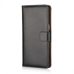 Plånboksfodral Samsung Note 10 Plus, Äkta skinn Svart