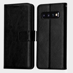 Plånboksfodral Samsung S10+, 3 kort Svart