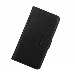 Plånboksfodral Samsung S20 5G, äkta skinn Svart