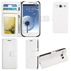 Plånboksfodral Samsung S3, 3 kort / ID, Vit Vit