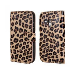 Plånboksfodral Samsung S3 mini, Slim modell, Leopard MultiColor