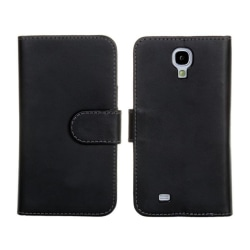 Plånboksfodral Samsung S4, PU-läder Svart