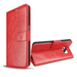 Plånboksfodral Samsung  S6 EDGE, 2 kort + ID Röd