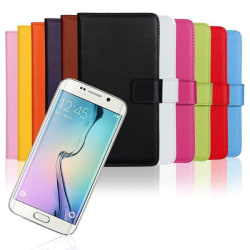 Plånboksfodral Samsung S6 Edge äkta skinn Svart