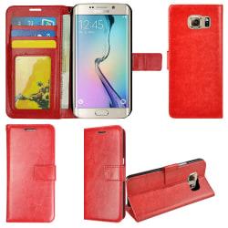Plånboksfodral Samsung S6 Edge PLUS, slim modell, 2 kort + ID Röd