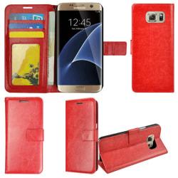 Plånboksfodral Samsung S7 EDGE, 2 kort + ID Röd