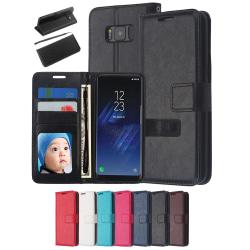 Plånboksfodral Samsung S8 Plus, 3 kort/ID Svart